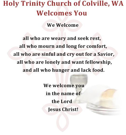 Welcome to Holy Trinity Church